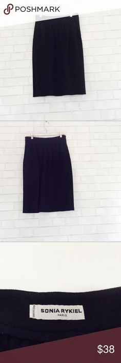 Sonya Rykiel Wool Black Skirt Size 10 Beautiful wool black skirt from Sonya Rykiel. Material 100% wool. Size 10. Gently used in great condition. Sonya Rykiel Skirts