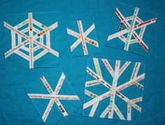 The Q and the U - Quilting Blog: Selvage Snowflake Tutorial