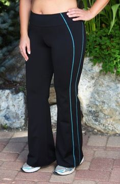 ** I like this Plus Measurement Exercise Pant - All the time For Me Lively Aspect Stripe