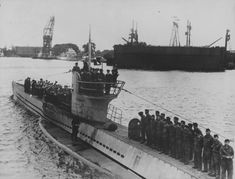 German submarine U-30 (type VII-A) in the harbor of the French port of Lorient (Lorient) after the sixth military campaign.