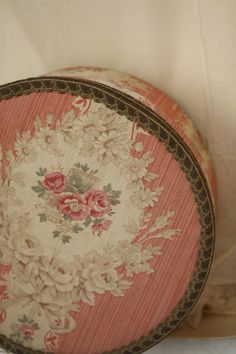 Fabric covered hat box...