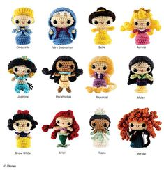 Disney Princess Crochet (Crochet Kits) - Princesses Included in the Amigurumi Patterns
