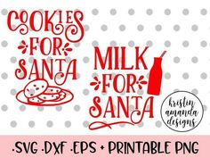 Milk and cookies for Santa svg