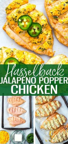 ThisHasselback Jalapeno Popper Chicken is a delicious and creative stuffed chicken breast recipe - all you need is a bit of light cream cheese cheddar and some fresh chopped and de-seeded jalapeno peppers! Cream Cheese Stuffed Jalapenos, Cream Cheese Chicken, Jalapeno Stuffed Chicken, Healthy Stuffed Chicken Breast, Stuffed Jalapeno Peppers, Stuffed Chicken Breasts, Easy Stuffed Chicken Recipes, Light Chicken Recipes, Cream Cheese Jalapeno Poppers
