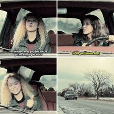 """And, of course, when she and Sarah went on a road trip. 