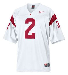 USC Trojans White Replica Football Jersey