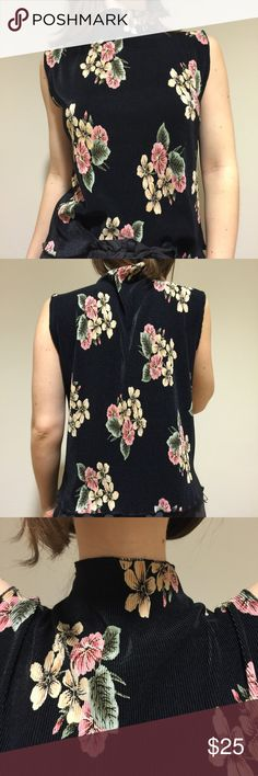 Vintage Floral Top A perfect vintage floral top for a summer day! This top can be worn with: shorts and sneakers, high waisted pants and heeled sandals, and a denim skirt and sandals! Fits small/medium and material is comfortable and stretchy! Like new! Tops Blouses