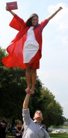 sooo cute! Going to do this with my boyfriend when i graduate. He's a cheerleader too..