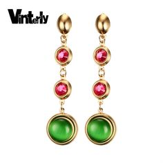 Home Womens Fashion Flowers Anti-allergy Piece Simple Lounge Chair Zircon Earrings Steel Nail Navel Rings Piercing Latest Fashion