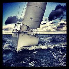 Une belle vague à l'âme de son bateau: son étrave de rêve!