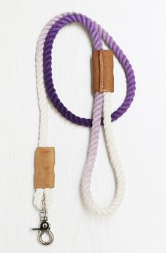 How To: Make a Modern Dip-Dyed Rope Dog Leash | Curbly