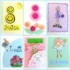 Детские самодельные открытки к 8 марта