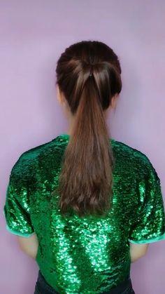 Thin Hair Styles For Women, Front Hair Styles, Medium Hair Styles, Hairdo For Long Hair, Easy Hairstyles For Long Hair, Braided Hairstyles, Hair Style Vedio, Hair Videos, Hair Looks