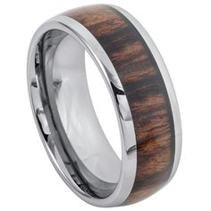 Titanium Ring Domed Band with Rosewood Inlay Wedding Band Engraving, Laser Engraving, Custom Engraving, Tungsten Carbide Rings, Titanium Rings, Tungsten Wedding Bands, Wedding Ring Bands, Rosewood Wedding, Wedding Men