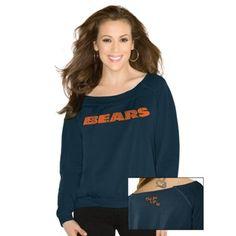 Touch by Alyssa Milano Chicago Bears Ladies Draft Choice Sweatshirt - Navy Blue
