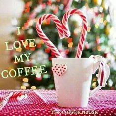 I love my coffee Merry Christmas Baby, Christmas Coffee, Christmas Holidays, Christmas Decorations, I Love Coffee, My Coffee, Morning Coffee, Different Kinds Of Coffee, Coffee With Friends