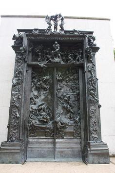 Que ganas tenía de ver la Puerta del Infierno de Rodin. Museo de Rodin.