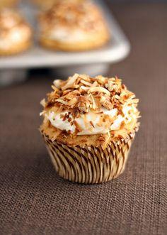 Italian cream cupcakes.Delicious Dessert!  Starts with a cake mix.