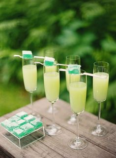 Perfect for summer event -Lime cocktail with sugar cube on top! -Troy-