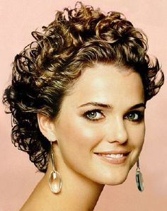Prom Curly Hair Styles. Keri Russell. Short Brown Curly Hair Style ...