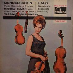 Mendelssohn* / Lalo* - Mischa Elman, Vienna State Opera Orchestra* Conducted By Vladimir Golschmann - Violin Concerto In E Minor / Symphonie Espagnole (Vinyl, LP) at Discogs