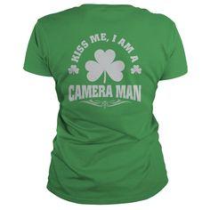 Kiss me, i'm camera man patrick's day t-shirts