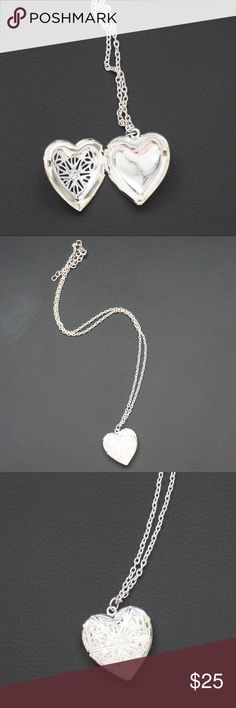 Silver Locket Necklace Quality Fashion Jewelry . Never worn . No tarnishes Jewelry Necklaces