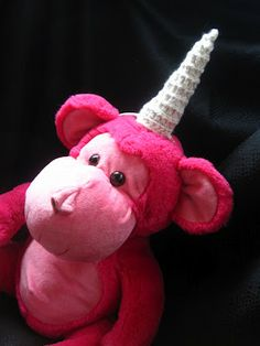 Amigurumi Unicorn Horn for Dress-Up and Make-Believe.  Free Pattern!