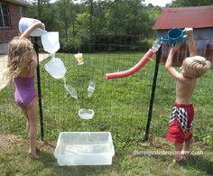 DIY water wall activity