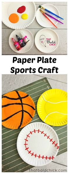 Paper Plate Sports Craft at thatbaldchick.com via @thatbaldchick
