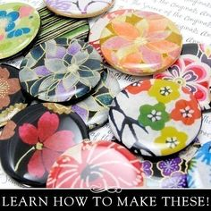 Resin Pendant Kit. Learn How to Make Resin Pendants with Gorgeous Chiyogami Papers. Annie Howes.