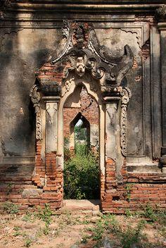 Old pagoda, Inwa / Ava, Myanmar / Burma by sensaos, via Flickr