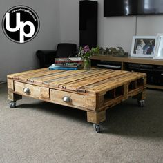 Pallet Coffee Table Retro Coffee Table by urbanpallets247 on Etsy