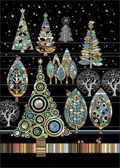 Christmas Forest - Bug Art greeting card