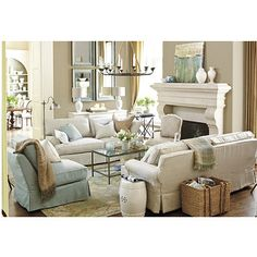 Absolutely love this family room!  Ballard Designs