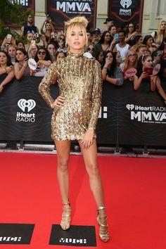 Hailey Baldwin in Kayat at the iHeartRadio MuchMusic Video Awards #MMVAs