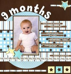 Month page- Baby Book