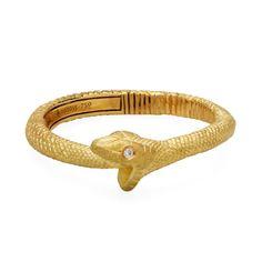 Gold Ouroboros Snake Ring, Anthony Lent