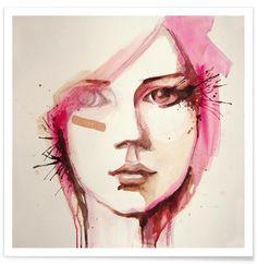 Pink Lana as Premium Poster by Rebekka | JUNIQE