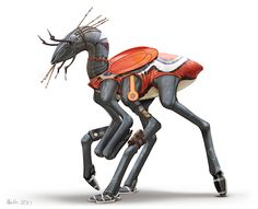 The Birrin are a sentient hexapod (six limbed) species from a planet approximately the size of Venus. This individual, gaudily attired, lives (and sometimes works) in the tropical regions of their ...