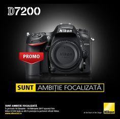 In perioada 16 ianuarie - 19 februarie 2017 aparatul foto DSLR NIKON D7200 body se afla in promotie la partenerii oficiali Nikon