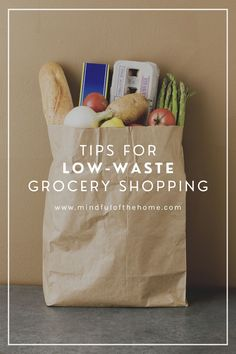 When going zero-waste, one of the best things you can do is reduce the amount of plastic and garbage you bring back from the grocery store. Learn how to get low-waste groceries, by focusing on packaging that's easily recyclable or reusable, growing your own food and bringing the right products with you when shopping.