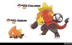 051 - 052: Ablaze Fakemon by LeafyHeart