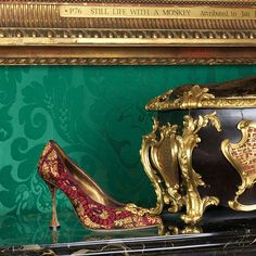 Now open until the October explore Manolo Blahniks aesthetic homage to the High Baroque at An Enquiring Mind: Manolo Blahnik at the Wallace Collection. Manolo Blahnik, Baroque, Stiletto Heels, Fashion Shoes, Shoes Sandals, Photoshoot, Photo And Video, Boots, Fashion Design