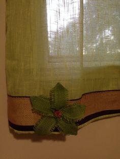 Burlap curtain trim
