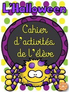 L'Halloween - French Halloween - Cahier d'activités de l'élève. 11 pages d'activités amusantes pour pratiquer le vocabulaire de l'Halloween.