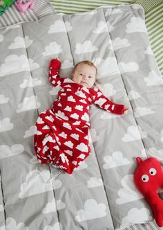 F:RG&FORM Moln Clouds Sleeping Bags at Northlight Baby Design, Baby Kids, Onesies, Nursery, Babies, Sleeping Bags, Inspiration, Clouds, Contemporary