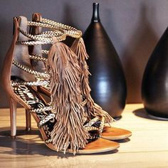 Glamorous Heels with a fringy touch by Sam Edelman