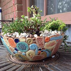 Most up-to-date Snap Shots Ceramics Pottery bowls Suggestions Saftiger Topf # Steingut # Spule – Töpfern – …, Hand Built Pottery, Slab Pottery, Ceramic Pottery, Coiled Pottery, Pottery Barn, Ceramic Bowls, Ceramic Art, Succulent Pots, Succulents
