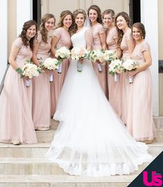 Inside John-David Duggar and Abbie Grace Burnett's Wedding - Hilde Mowat Modest Wedding Dresses, Wedding Gowns, Bridesmaid Dresses, Bridal Dresses, Bridesmaids, Jessa Duggar Wedding Dress, John David Duggar, Duggar Family, Duggar Girls